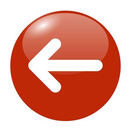 top menu: Vector icon arrow. Flat design style eps 10