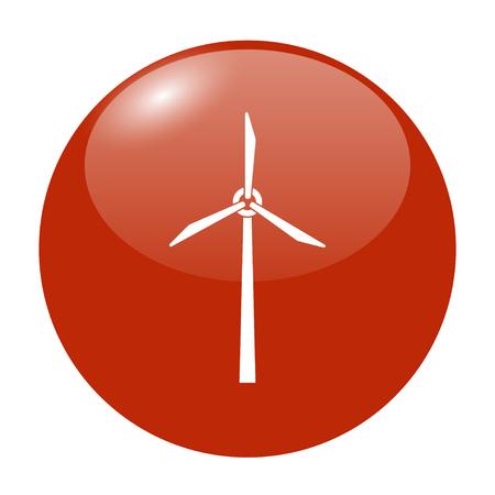 airscrew: Wind turbine icon. Flat design style eps 10