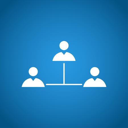 marketing online: Vector concept network icon. Design style  Illustration