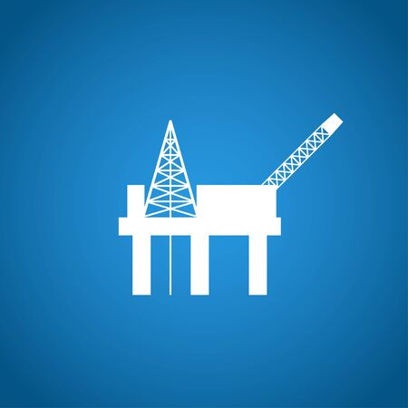 oil platform: Oil platform icon. Flat design style