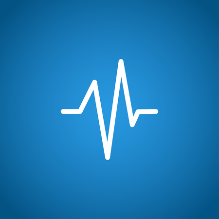 beat: Heart beat, Cardiogram, Medical icon - Vector. Flat design style
