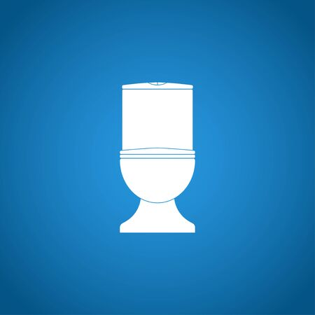 toilet sign: Toilet icon. Flat design style