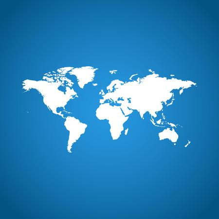 World Map Illustration. Flat design style  Illustration