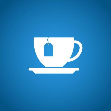 ceylon: cup with tea bag . Flat design style  Illustration