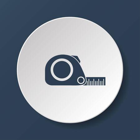 simbol: Misura di nastro icone. Roulette di costruzione simbol. Appartamento Vettoriali