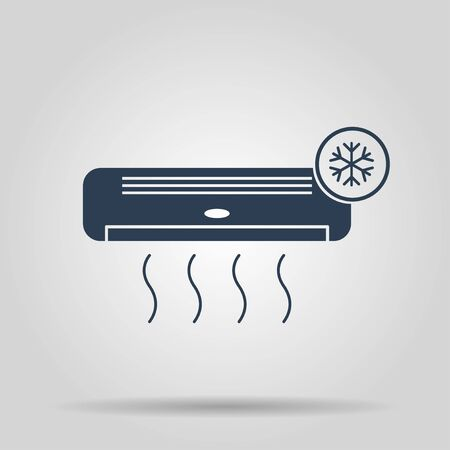 acclimatization: Air conditioner icon. Flat design style