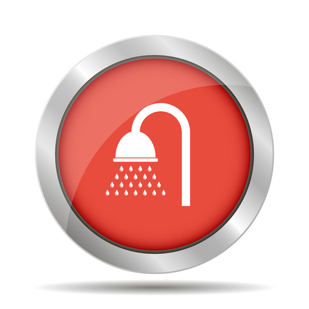 Shower icon. Flat design style  Illustration