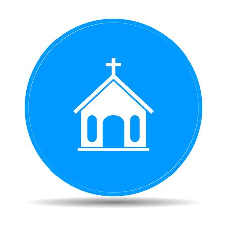 bible altar: church icon. Flat design style  Illustration