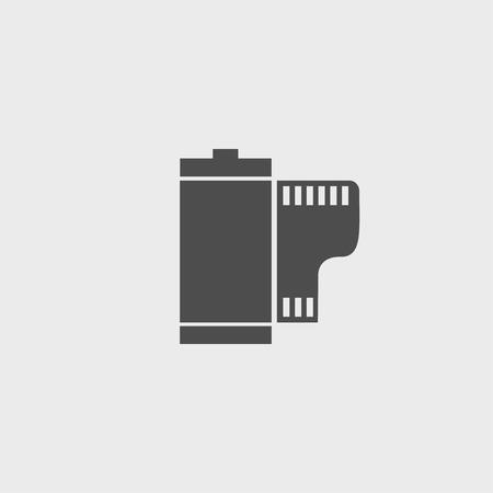 camera film: Flat Camera Film Roll. Vector