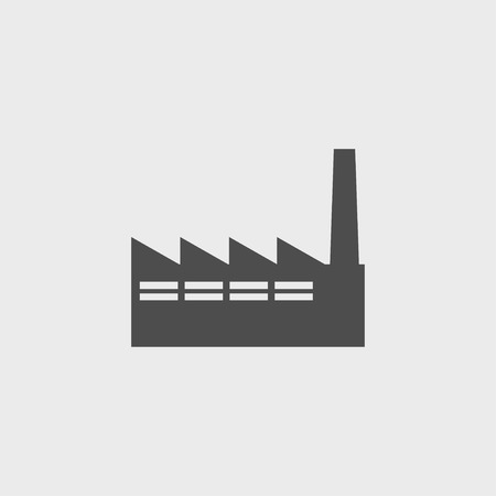 distillery: icon of factory. Flat design style