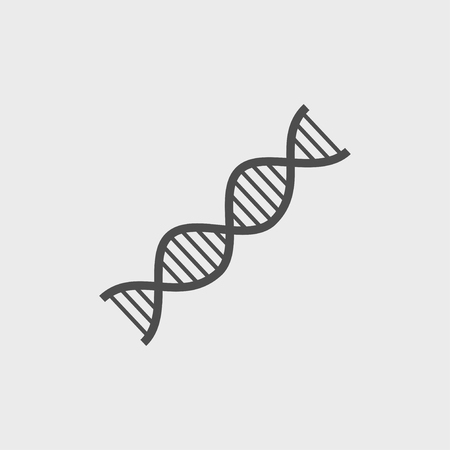 Vector DNA icon. Flat design style