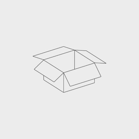stockpile: box vector illustration. Flat design style  Illustration