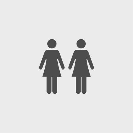 urban planning: couple icon,. Flat design style  Illustration