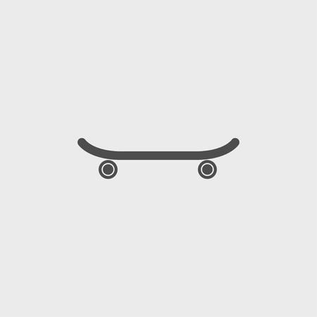 icon of skateboard. Vector Illustration  일러스트