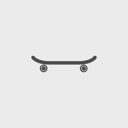 icon of skateboard. Vector Illustration  Çizim
