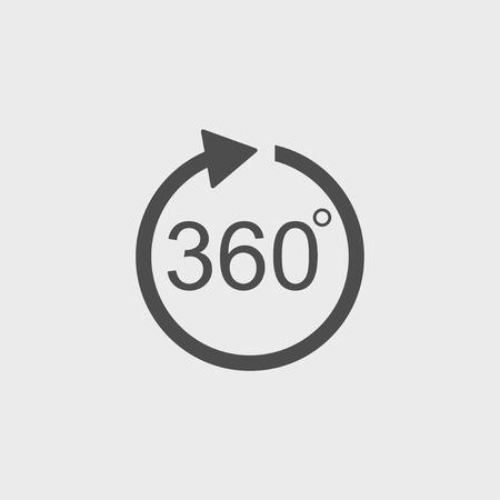 arrow vector icon. Flat design style