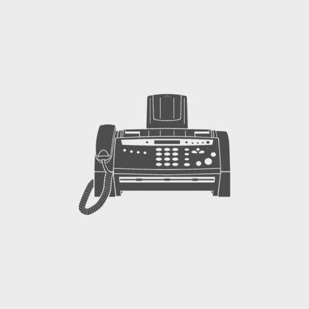 faxger�t: Fax-Symbol, Vektor-Illustration