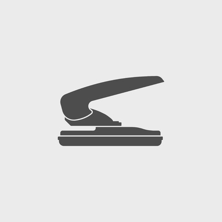 puncher: two hole paper puncher icon, vector illustration Illustration