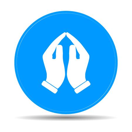 Praying hands icon, vector illustration. Flat design style Illustration