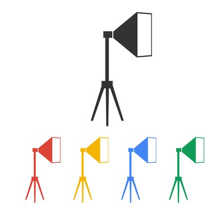 spot light: Icon studio light, isolated Exclusive Symbols. Vector