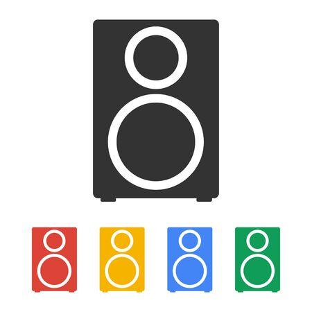 tercet: column - vector icon Flat design style