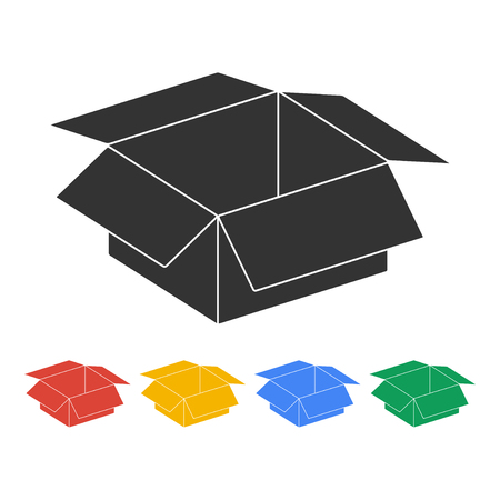 box vector illustration. Flat design style  Illustration