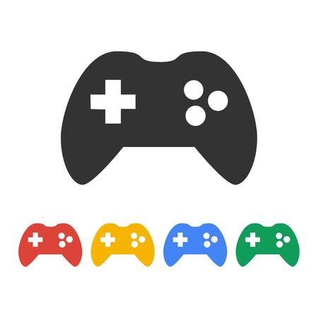 게임 컨트롤러 아이콘입니다. 평면 디자인 스타일