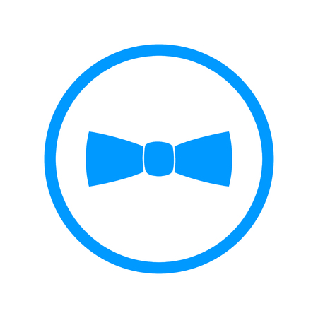 official wear: Bow tie, icon vector. Flat design style