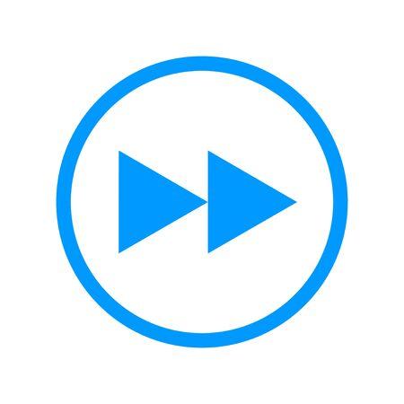 multimedia icon: Glossy multimedia icon  forward flat