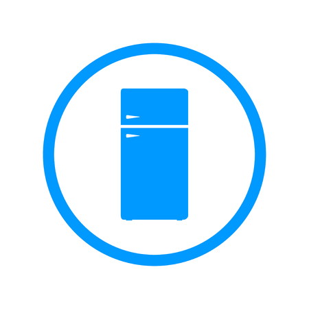 cold storage: Icon of refrigerator. Flat design style