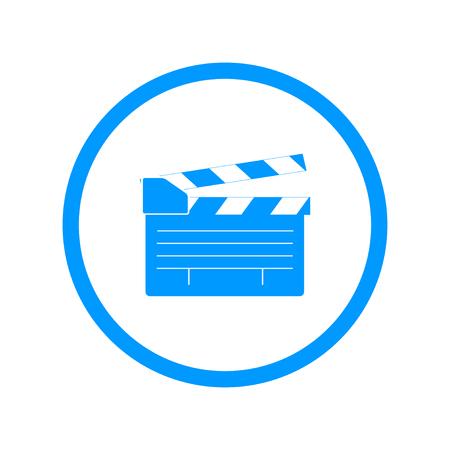 movie clapper: movie clapper board, movie maker vector. Flat design style