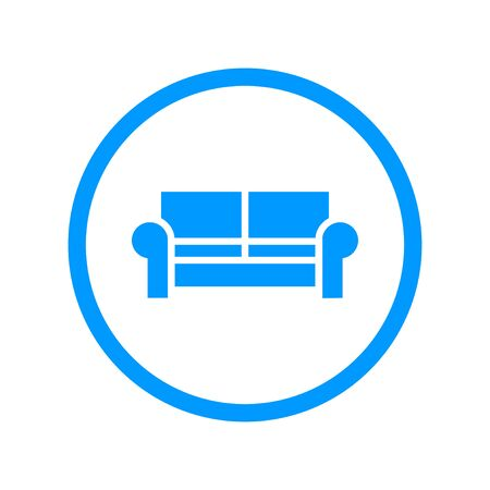 old furniture: Comfortable sofa Icons. Flat design style