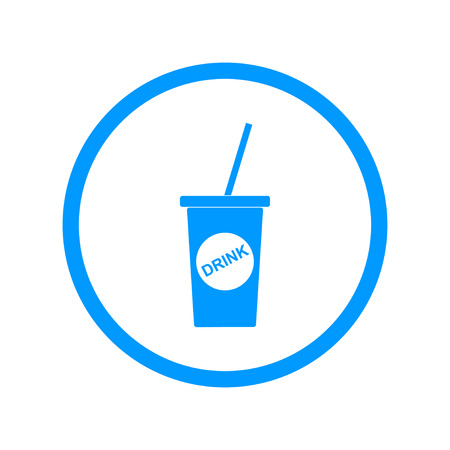 softdrink: paper coffee cup. Flat design style