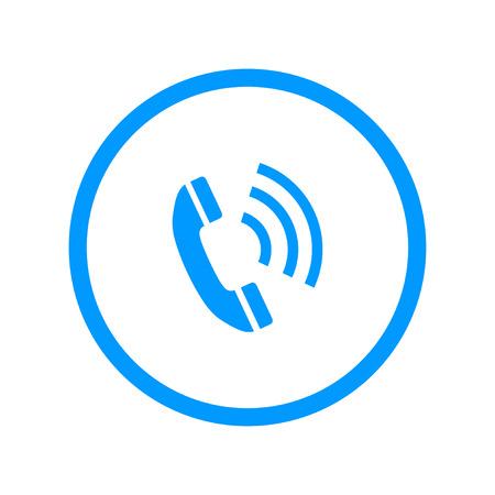 Flat icon of a phone. Flat design style eps 10 Illustration