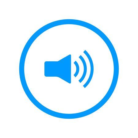 speaker icon: Speaker icon. Flat design style