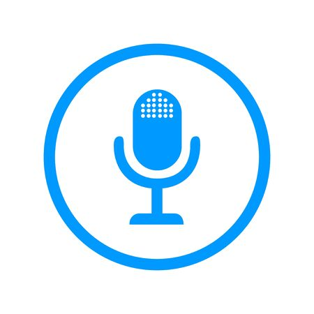 oldie: microphone web icon, flat design Illustration
