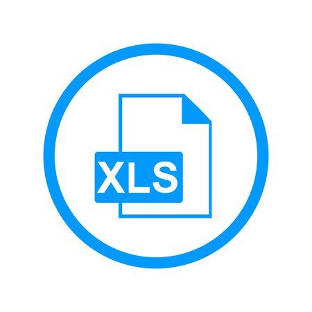 xls: xls icon. Flat design style