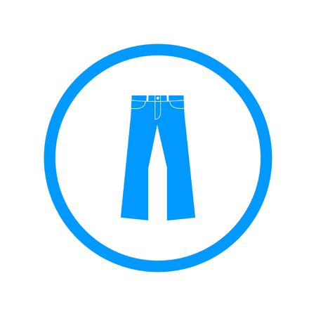 pants: Pants icon. Vector flat Illustration Illustration