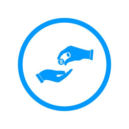 beggar's: Flat icon, give alms,  Illustration  Illustration