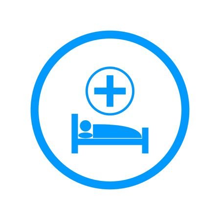 accident rate: cama de hospital, Vector Ilustraci�n plana
