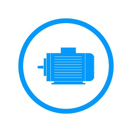 Icône de moteur électrique, Vector Illustration plat Vecteurs