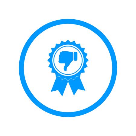 medal like: Vector medallion icon. Flat design style