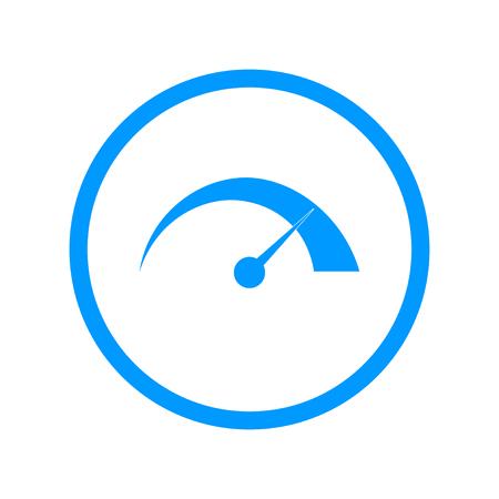 dsl: Vector speedometer icon Flat design style  Vettoriali