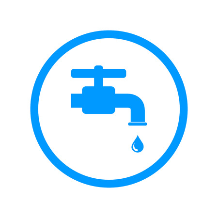 stopcock: Tap icon. Flat design style