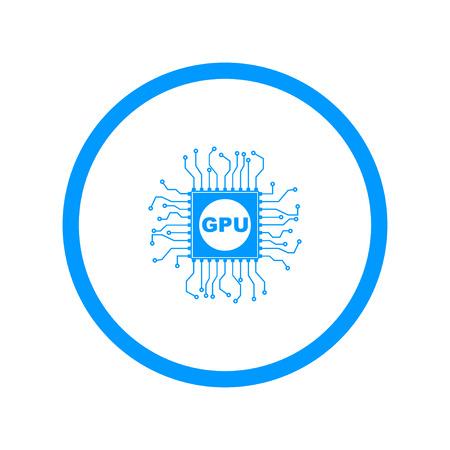 Circuit board  icon. Technology scheme square symbol. Illustration