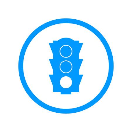 regulate: Icon, traffic illustration. Vector flat design style