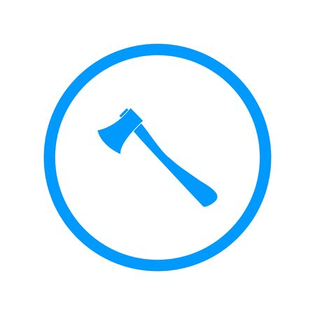 in the reconstruction: The ax icon. Axe symbol. Flat Vector illustration
