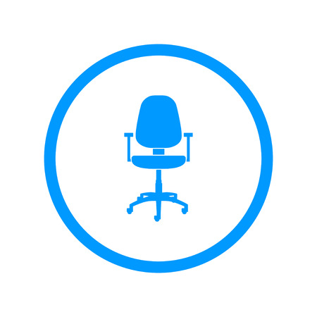 ejecutiva en oficina: Icono de la oficina ichair Vectores
