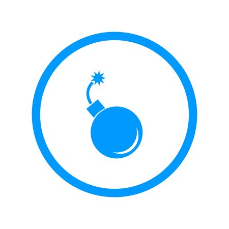 heavy risk: bomb icon. Flat design style