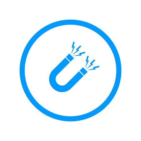 electromagnetic field: Magnet Symbol. Flat design style
